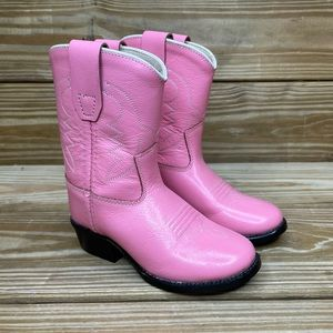 Old West Bright Pink Baby Girls Western Boots